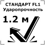 Ударопрочность при падении с высоты до 1 метра (условно)