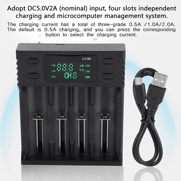 Универсальное зарядное устройство LiitoKala Lii-S4