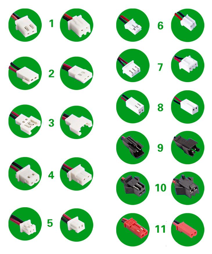 Варианты коннекторов к батареям