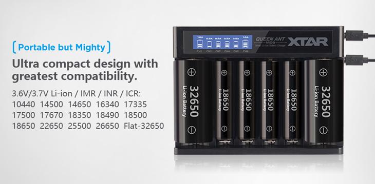 Универсальное зарядное устройство XTAR QUEEN ANT MC6 USB