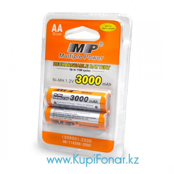 Аккумулятор NiMH Multiple Power (MP) AA/HR6 3000мАч, 2шт в блистере (MP-AA3000-BP2)