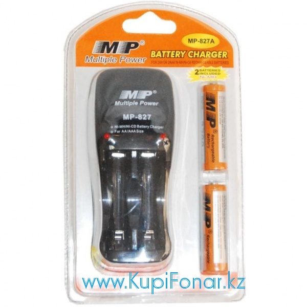 �������� ���������� MP 827 + 2AA2300mAh �� 2*�� ��� 2*���, ������������, 2 �� 2300 mAh � ���������